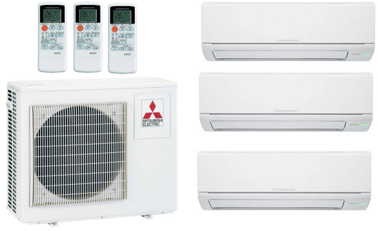 Мульти-сплит-система Mitsubishi Electric MXZ-3DM50VA + 3 внутренних блока типа Classic DM (25+25+25)