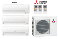 Кондиционер Mitsubishi Electric мульти-сплит-система MXZ-3HA50VF + 3 внутренних блока серии Classic HR (25 + 25 + 25)