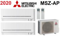 Мульти-сплит-система Mitsubishi Electric MXZ-2D33 + 2 внутренних блока серии Standard AP (15+15)