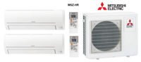 Кондиционер Mitsubishi Electric мульти-сплит-система MXZ-2HA40VF + 2 внутренних блока серии Classic HR (25 + 25)